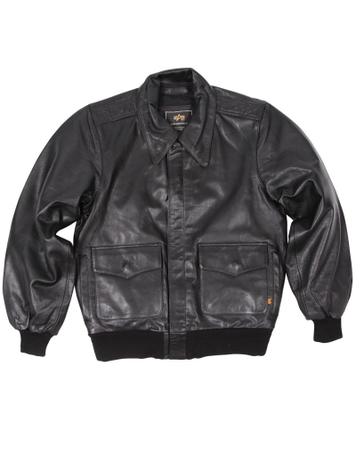 A-2 LEATHER BOMBER JACKET / Black