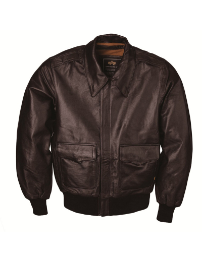 A-2 LEATHER BOMBER JACKET / Brown