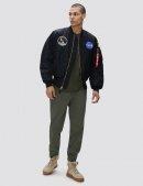 Куртка бомбер APOLLO MА-1 BOMBER JACKET - Black - Alpha industries™