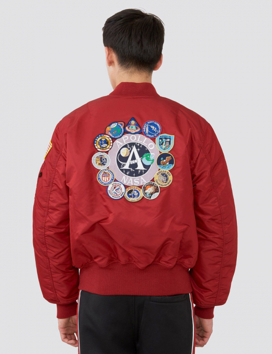 Куртка бомбер APOLLO MA-1 BOMBER JACKET - Commander Red - Alpha industries™