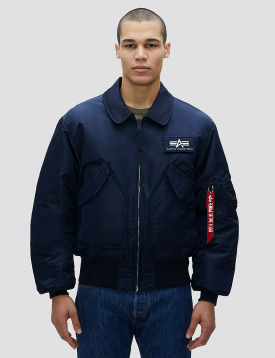 Куртка бомбер CWU 45/P BOMBER JACKET - Replica blue - Alpha Industries™