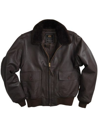 G-1 LEATHER BOMBER JACKET / Brown