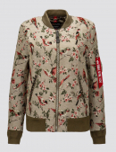 Куртка-ветровка L-2B JACQUARD W BOMBER JACKET - Floral Jaquard - Alpha Industries™