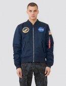 Куртка-вітрівка L-2B NASA MEN'S BOMBER JACKET - Replica blue - Alpha Industries™