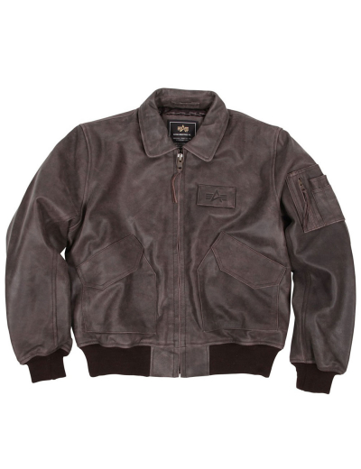 CWU 45/P LEATHER BOMBER JACKET / Brown