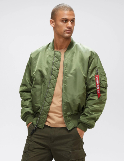 MA-1 BLOOD CHIT BOMBER JACKET / Sage Green