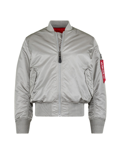 MA-1 BLOOD CHIT BOMBER JACKET / New silver