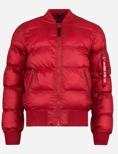 MA-1 ECHO W BOMBER JACKET / Commander Red
