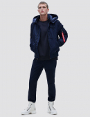 Куртка бомбер MA-1 HOODED RIB BOMBER JACKET / Replica blue
