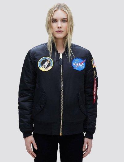 NASA MA-1 BOMBER JACKET W / Black