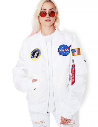 NASA MA-1 BOMBER JACKET W / White