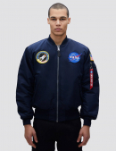 Куртка бомбер NASA MA-1 BOMBER JACKET / Replica blue