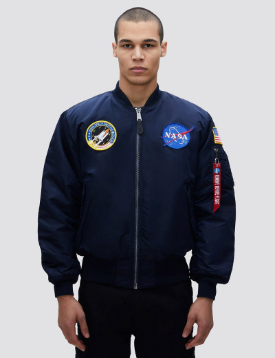 NASA MA-1 BOMBER JACKET / Replica blue