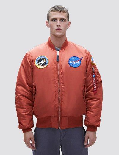 NASA MA-1 BOMBER JACKET / Rust