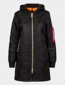 Куртка бомбер длинная MA-1 NATUS LONG W - Black - Alpha Industries™
