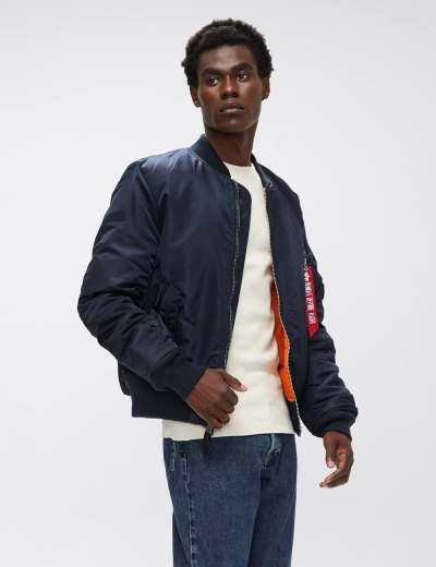 MA-1 BOMBER JACKET SLIM FIT / Replica blue