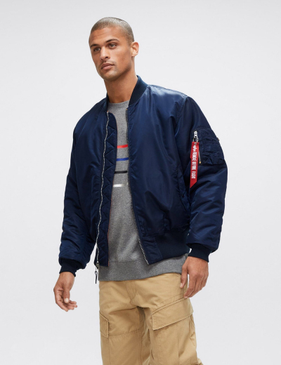 MA-1 BOMBER JACKET / Replica blue