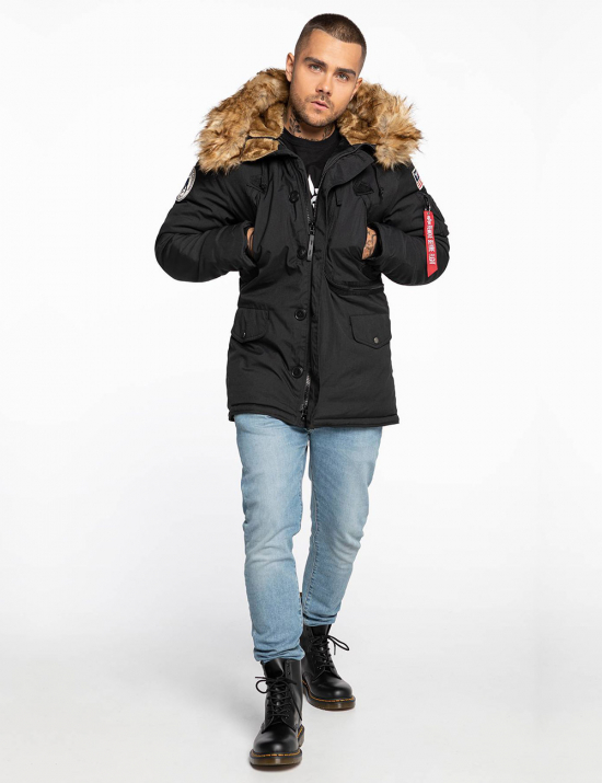 Зимова куртка N-3B ALPINE PARKA - Black - Alpha industries™