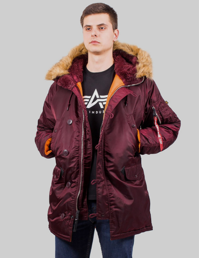 N-3B SLIM FIT PARKA / Maroon