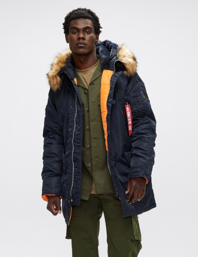 N-3B SLIM FIT PARKA / Replica blue
