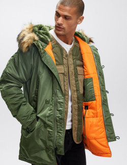 N-3B SLIM FIT PARKA / Sage