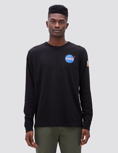 SPACE SHUTTLE LONG SLEEVE TEE / Black