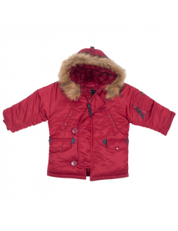 YOUTH N-3B PARKA / Commander Red